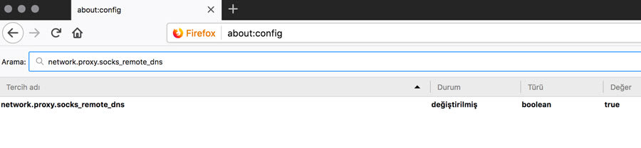 Firefox about config