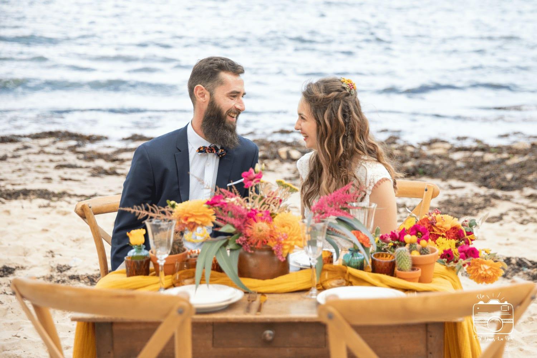 Inspiration mariage éco-responsable et éthique:  Un Été coloré au bord de l'océan