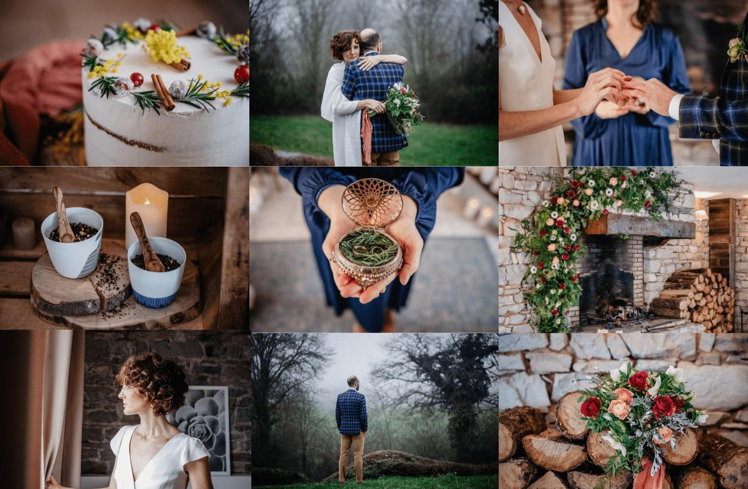 Inspiration mariage éco-responsable : Au coin du feu