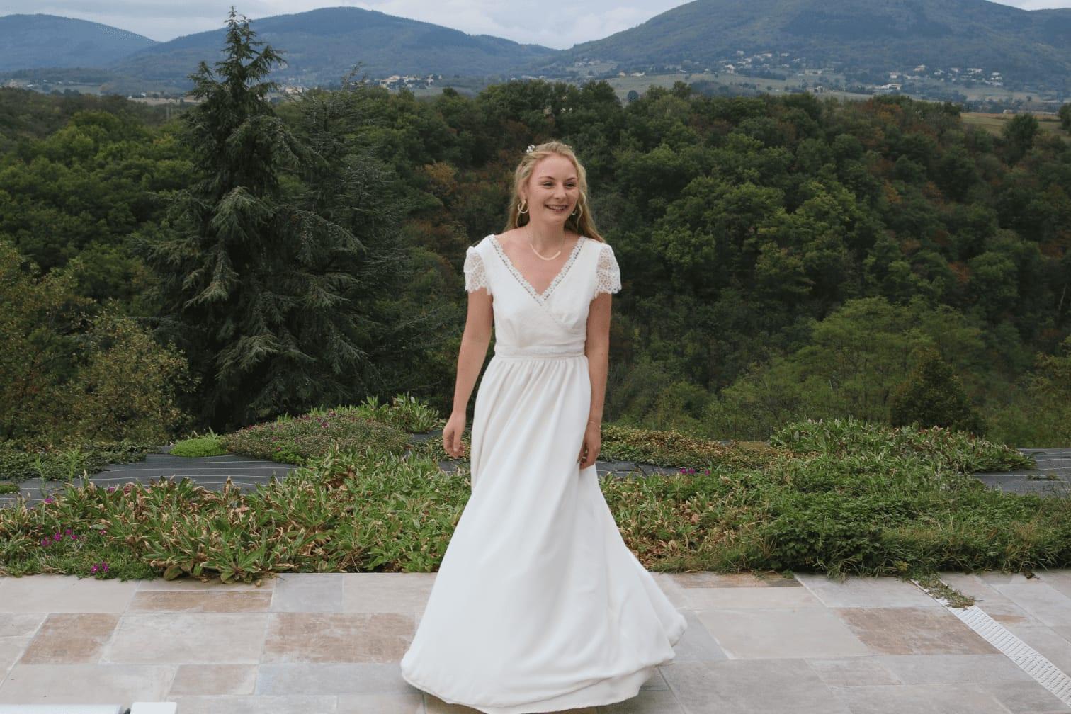 La robe de mariée plus éco-responsable car réutilisable !