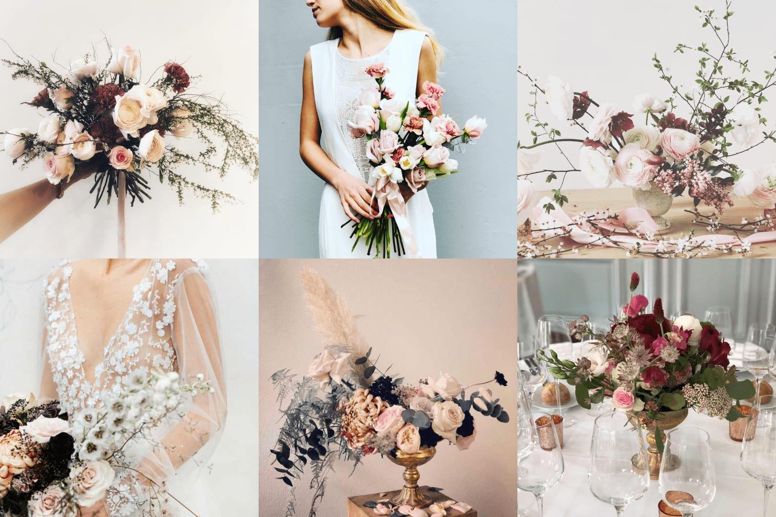 Décoration florale pour le mariage – fleur française et de saison