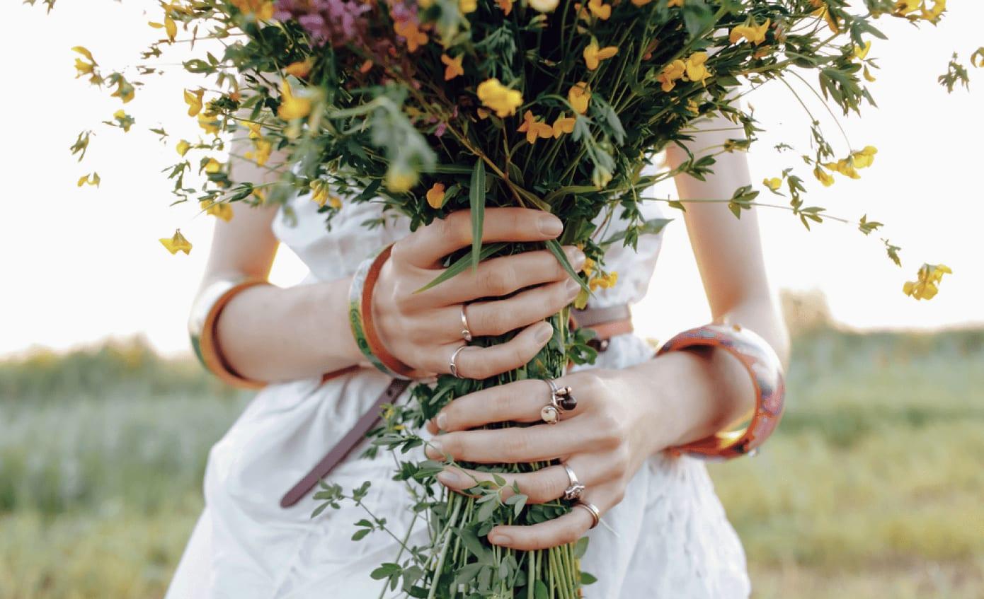 Bouquet de la mariée pour un mariage en été
