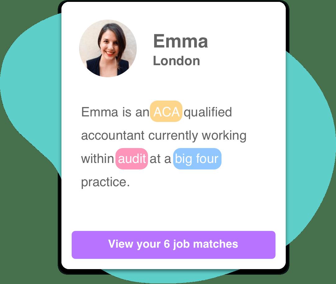 A professional profile mockup on Counter