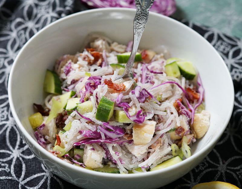 Simple Chicken Bacon Pasta Salad Recipe (Paleo, AIP, Whole 30)