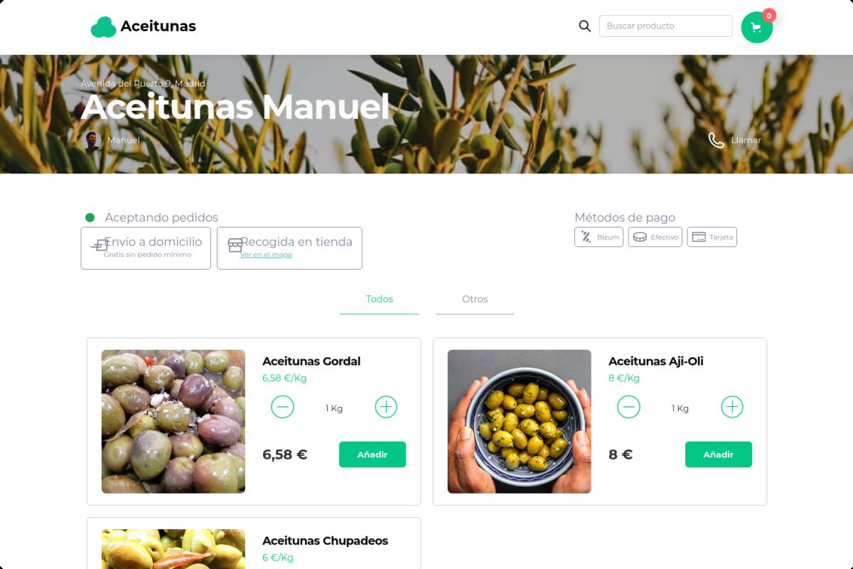 Tienda online de Aceitunas