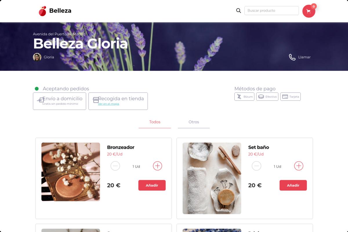 Tienda online de Belleza