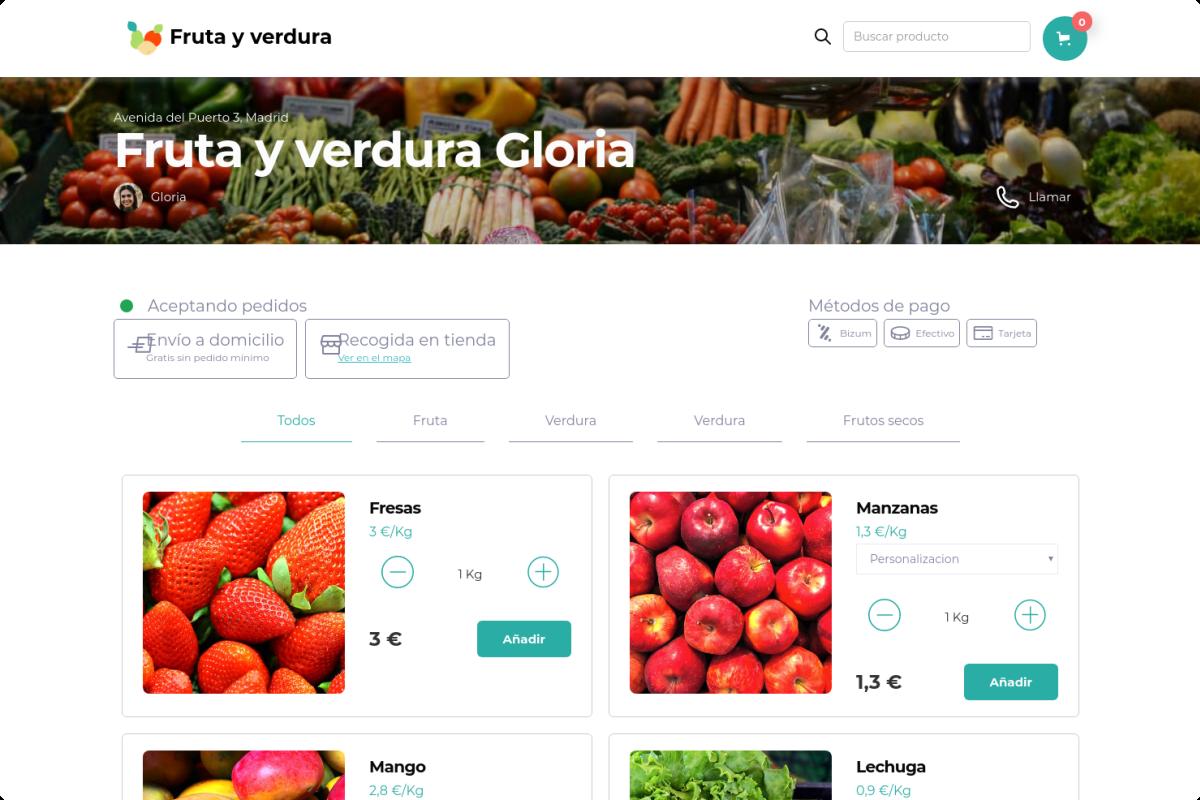 Tienda online de Fruta y verdura