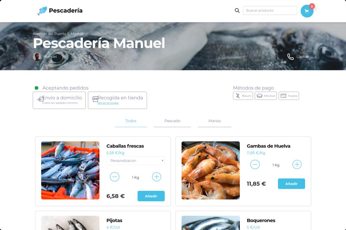 Tienda online de Pescadería