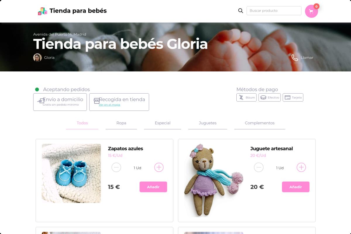 Tienda online de Tienda para bebés