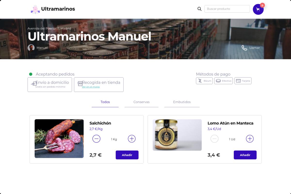 Tienda online de Ultramarinos