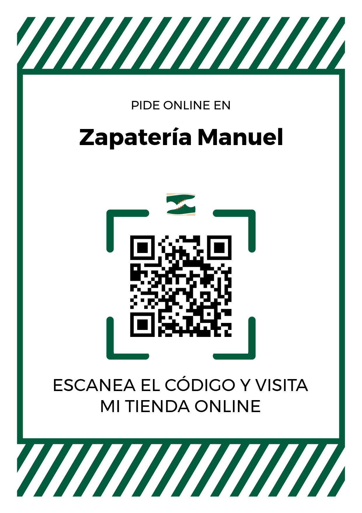 Cartel Póster de Código QR para tienda de Zapatería