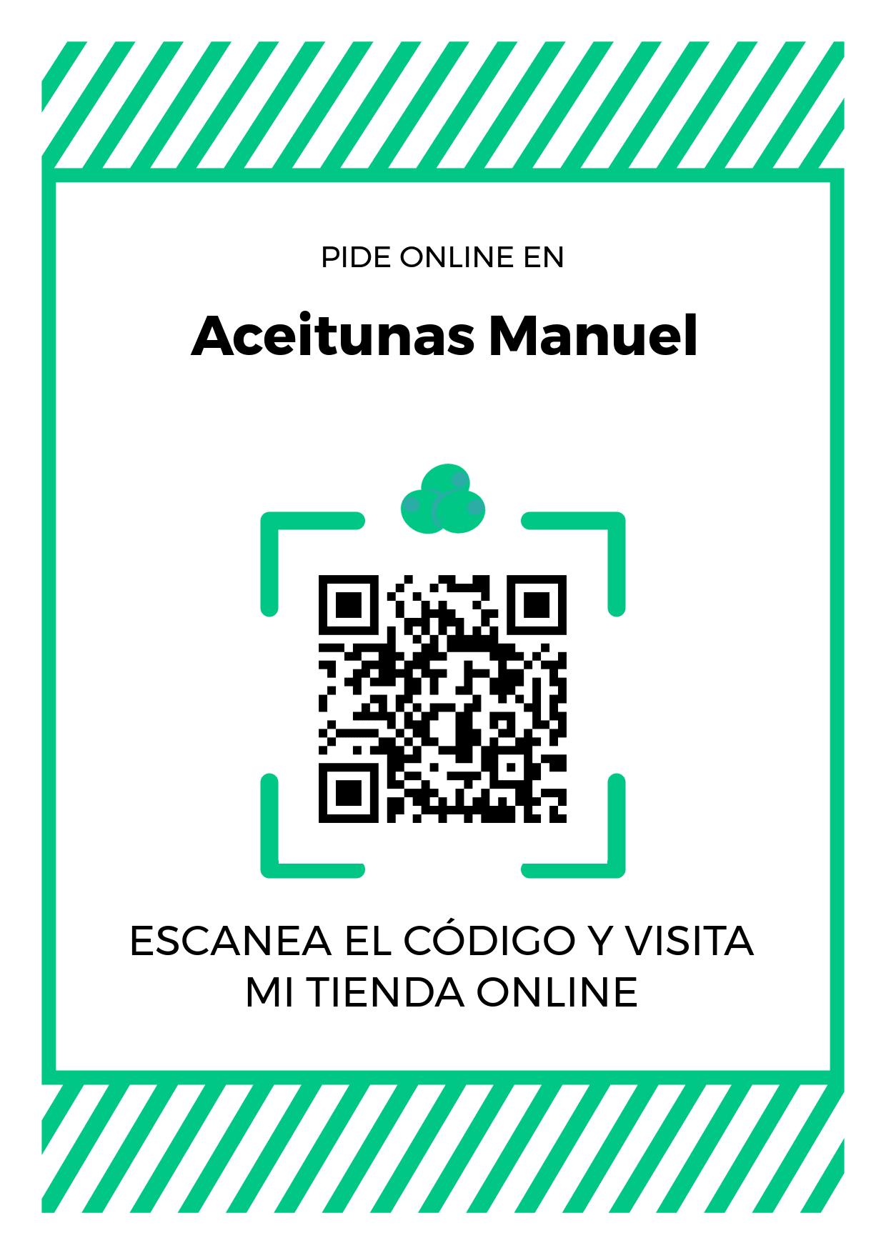Cartel Póster de Código QR para tienda de Aceitunas