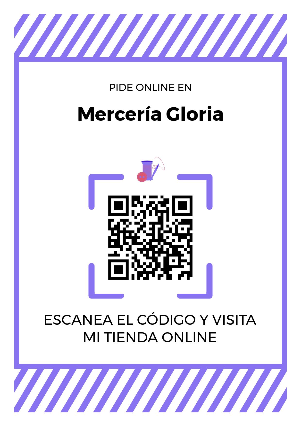 Cartel Póster de Código QR para tienda de Mercería