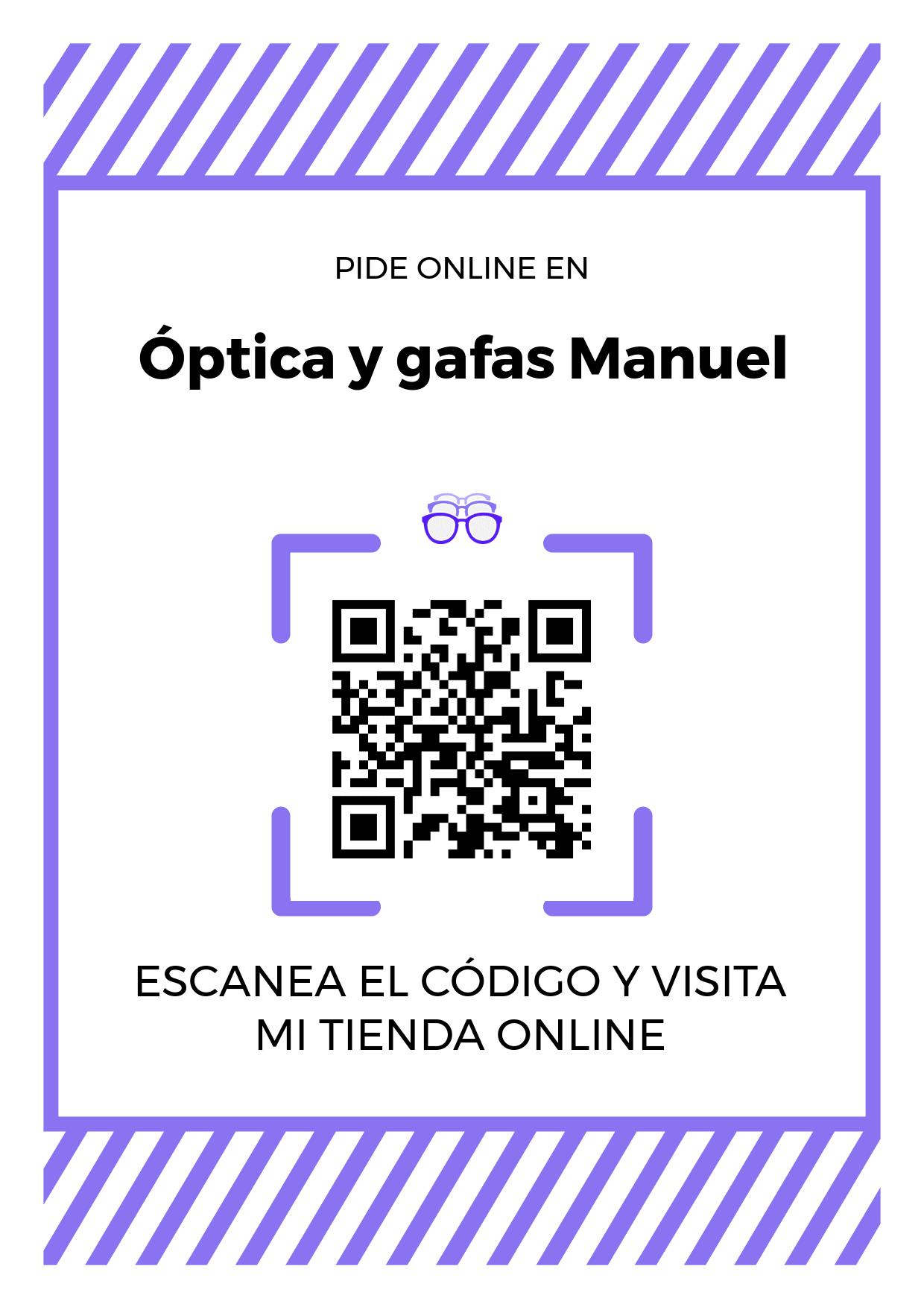 Cartel Póster de Código QR para tienda de Óptica y gafas