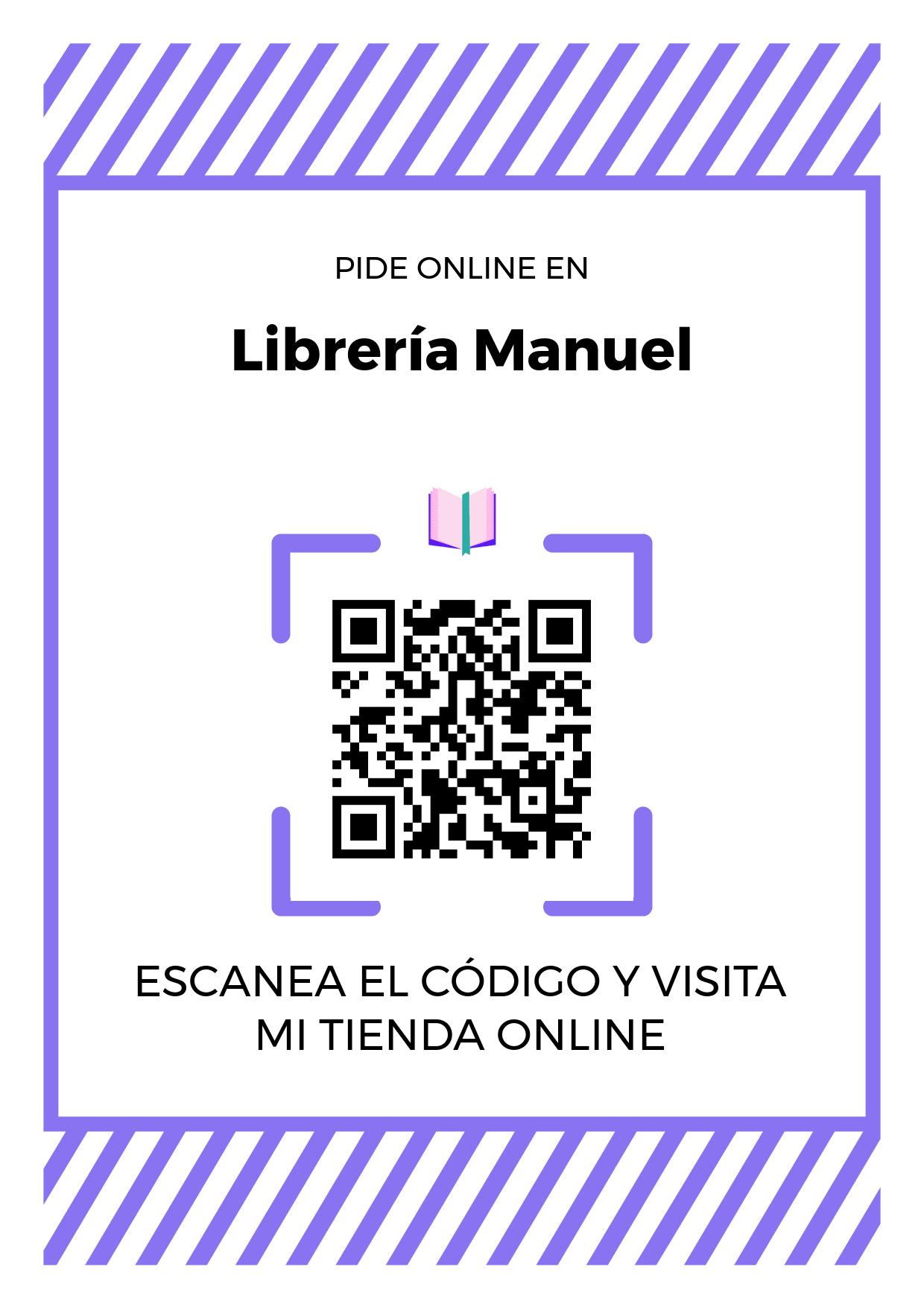 Cartel Póster de Código QR para tienda de Librería