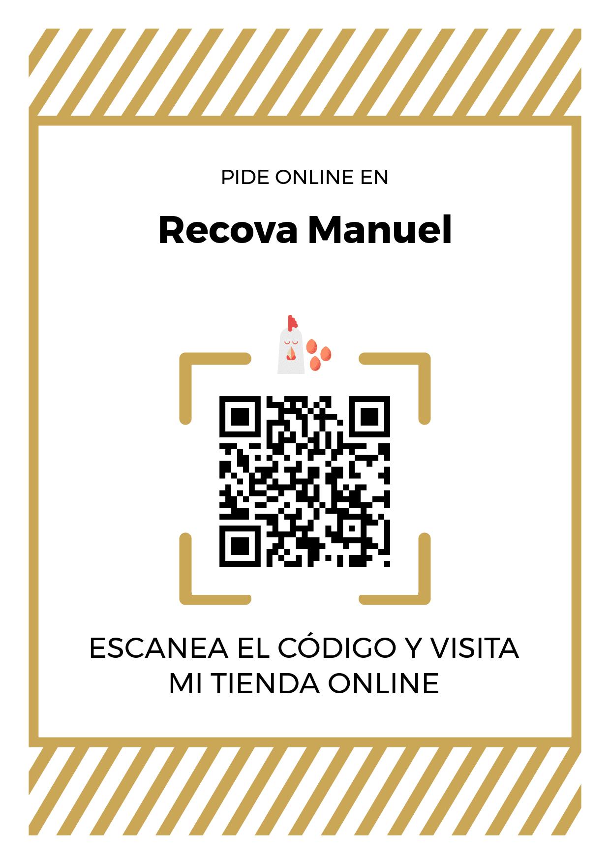 Cartel Póster de Código QR para tienda de Recova