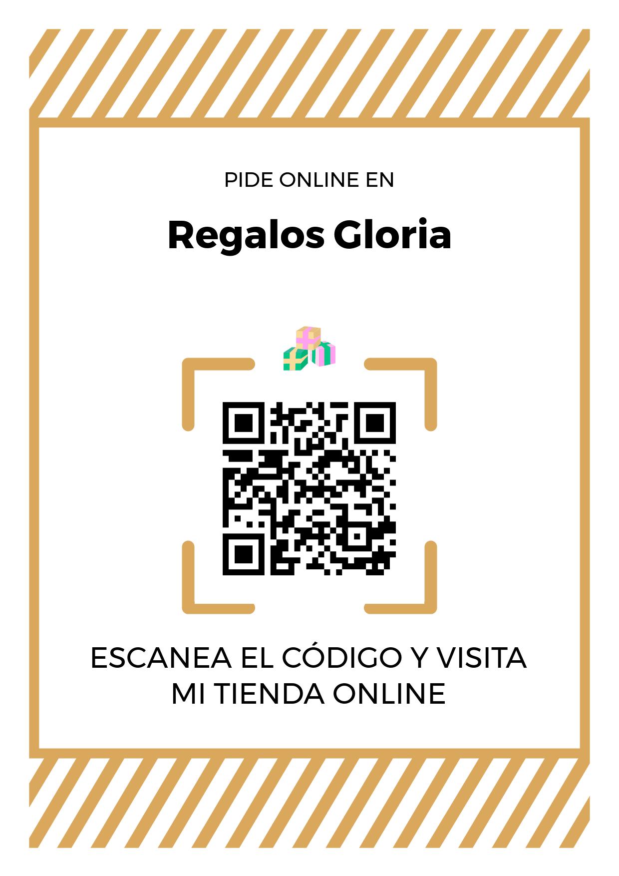 Cartel Póster de Código QR para tienda de Regalos