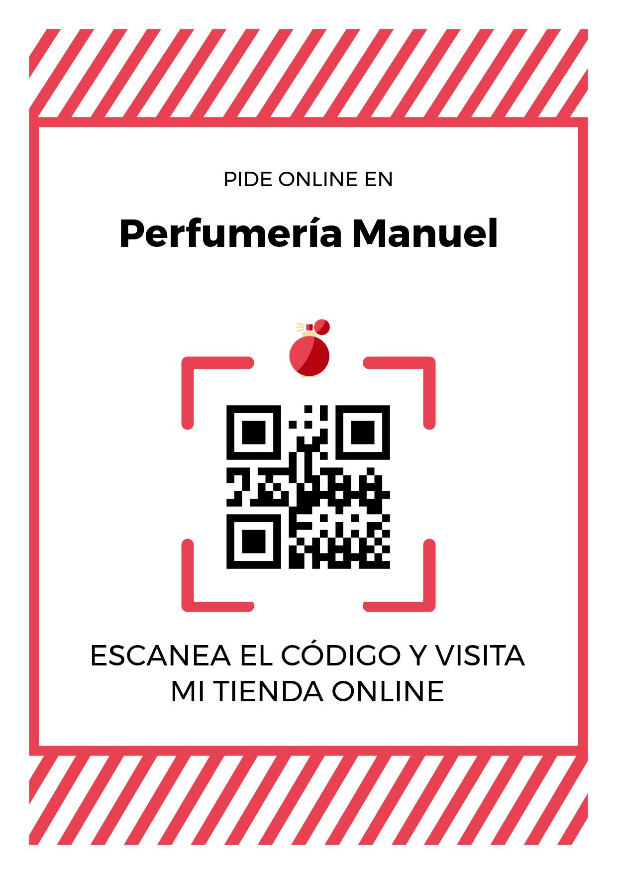 Cartel Póster de Código QR para tienda de Perfumería