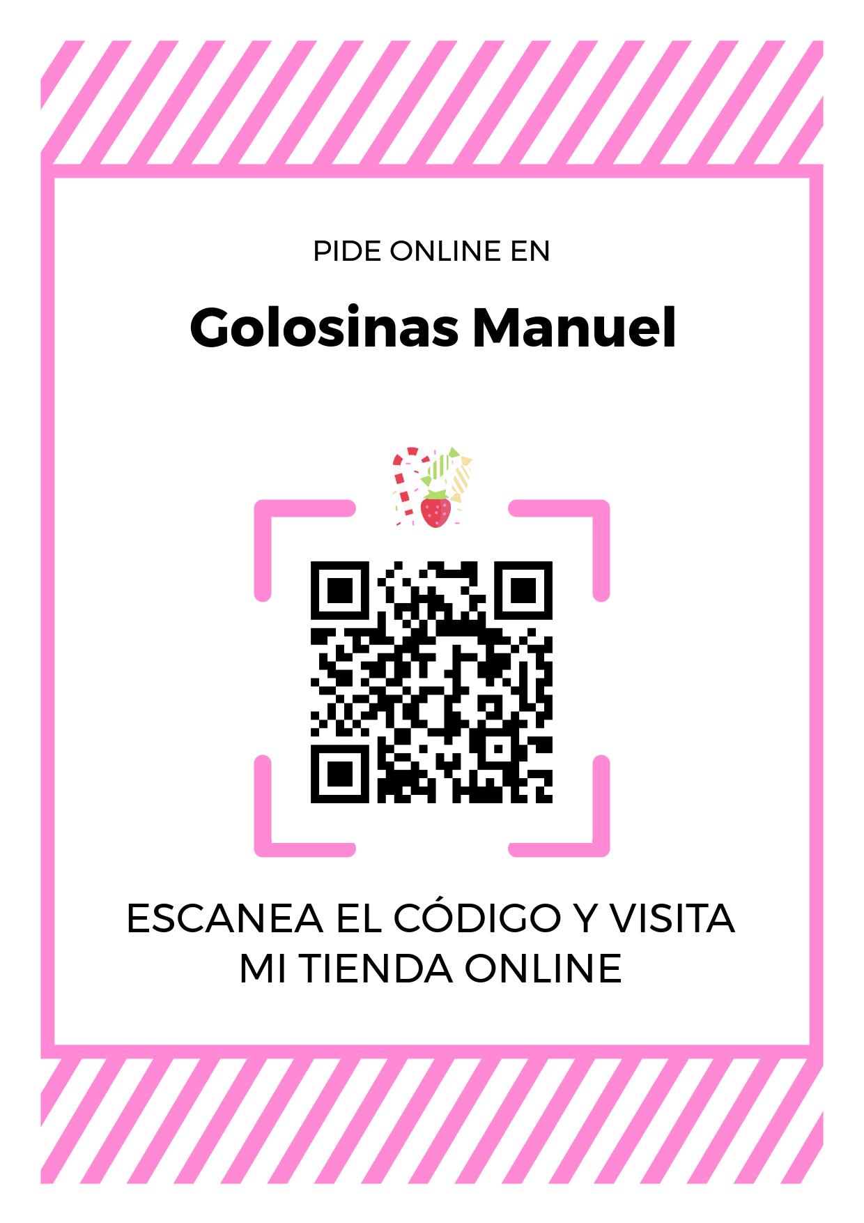 Cartel Póster de Código QR para tienda de Golosinas