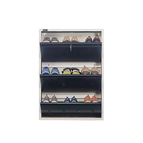 DNS Metal 9 Pair Shoe Rack Gray | Premium Matte Finish