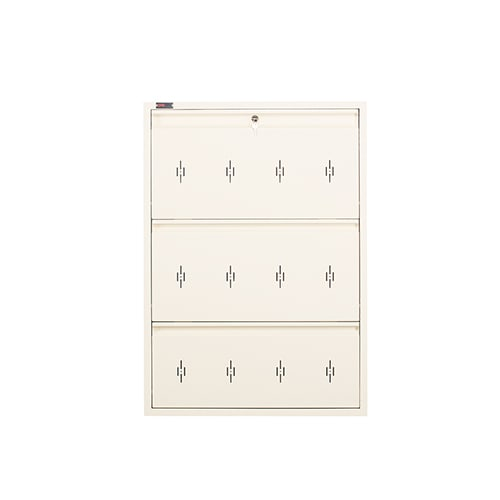DNS Metal 9 Pair Shoe Rack Ivory | Premium Matte Finish