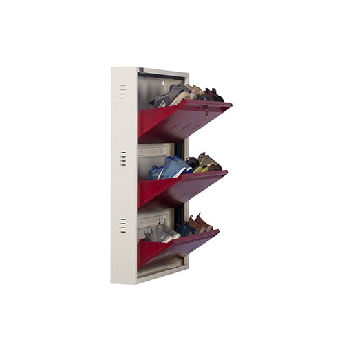 DNS Metal 9 Pair Shoe Rack Maroon| Premium Matte Finish