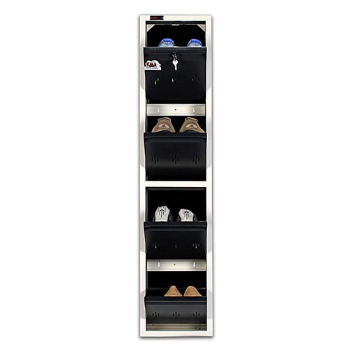 DNS Metal 4 Pair Shoe Rack Grey | Worlds Slimmest Shoe Rack