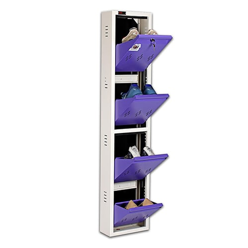 DNS Metal 4 Pair Shoe Rack Purple | Worlds Slimmest Shoe Rack