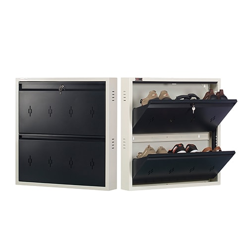 DNS Metal 6 Pair Shoe Rack Gray | Premium Matte Finish