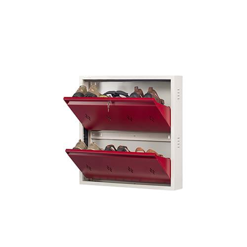 DNS Metal 6 Pair Shoe Rack Maroon | Premium Matte Finish