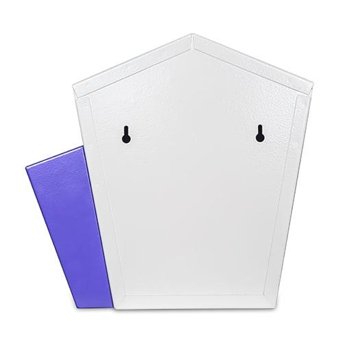 DNS Milk Box With Newspaper Holder Purple With Lock  