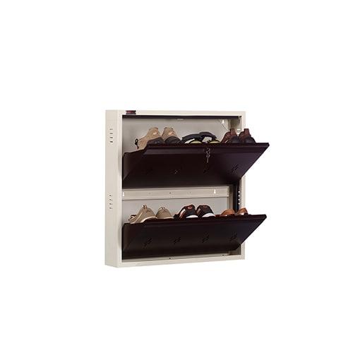 DNS Metal 6 Pair Shoe Rack Brown | Premium Matte Finish