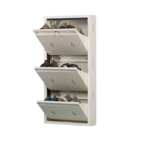 DNS Metal 6 Pair Shoe Rack Ivory| Premium Matte Finish