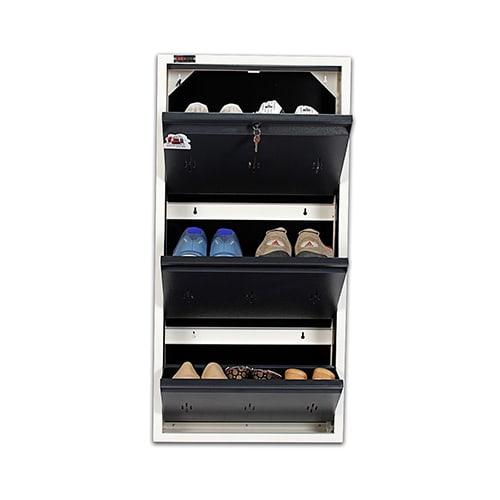 All New 6 Pair Shoe Rack Gray | Premium Matte Finish