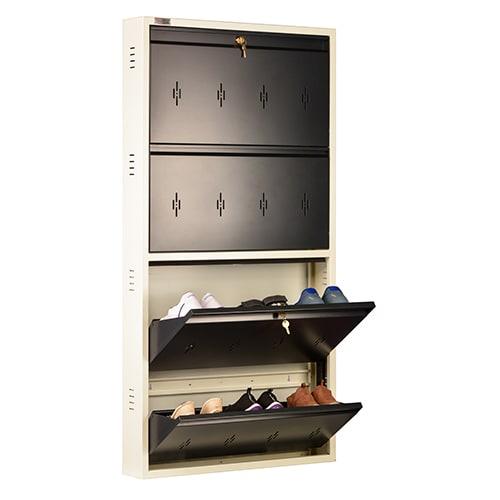 DNS Metal 12 Pair Shoe Rack Gray | Premium Matte Finish