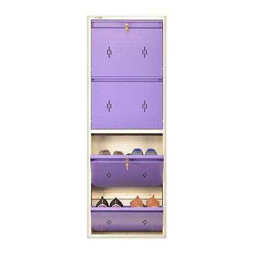 All New 8 Pair Shoe Rack Purple | Premium Matte Finish