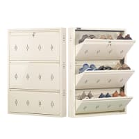 All New 9 Pair Shoe Rack Ivory | Premium Matte Finish