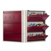 All New 9 Pair Shoe Rack Maroon| Premium Matte Finish