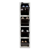 4 Pair Shoe Rack Brown | Worlds Slimmest Shoe Rack