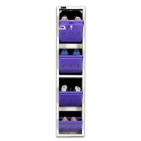 DNS Metal 4 Pair Shoe Rack Purple | Worlds Slimmest Shoe Rack