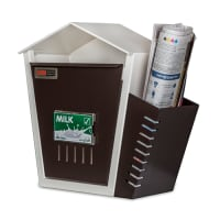 DNS Milk Box With Newspaper Holder Brown With Lock