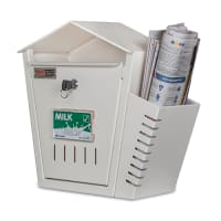 DNS Milk Box With Newspaper Holder Ivory With Lock |