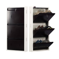 DNS Metal 6 Pair Shoe Rack Brown | Premium Matte Finish
