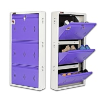 DNS Metal 6 Pair Shoe Rack Purple | Premium Matte Finish