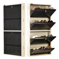 DNS Metal 12 Pair Shoe Rack Gray | Premium Matte Finish
