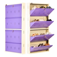 All New 12 Pair Shoe Rack Purple | Premium Matte Finish