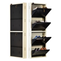 DNS Metal 8 Pair Shoe Rack Gray | Premium Matte Finish