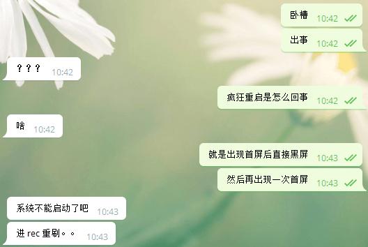 与老杨的聊天记录