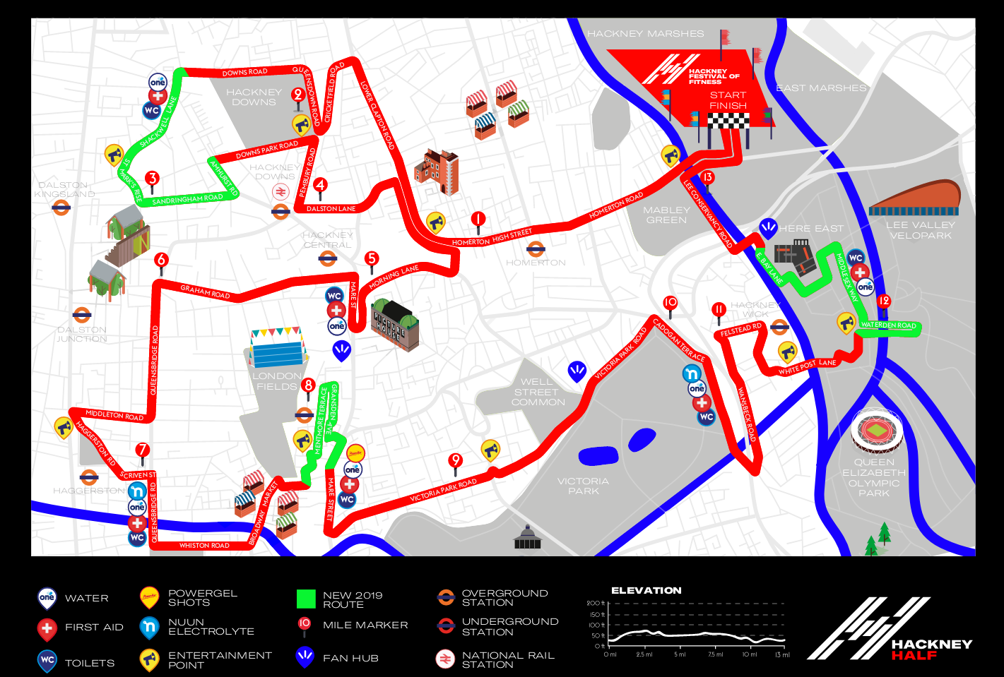 Hackney Half 2019 Course Map