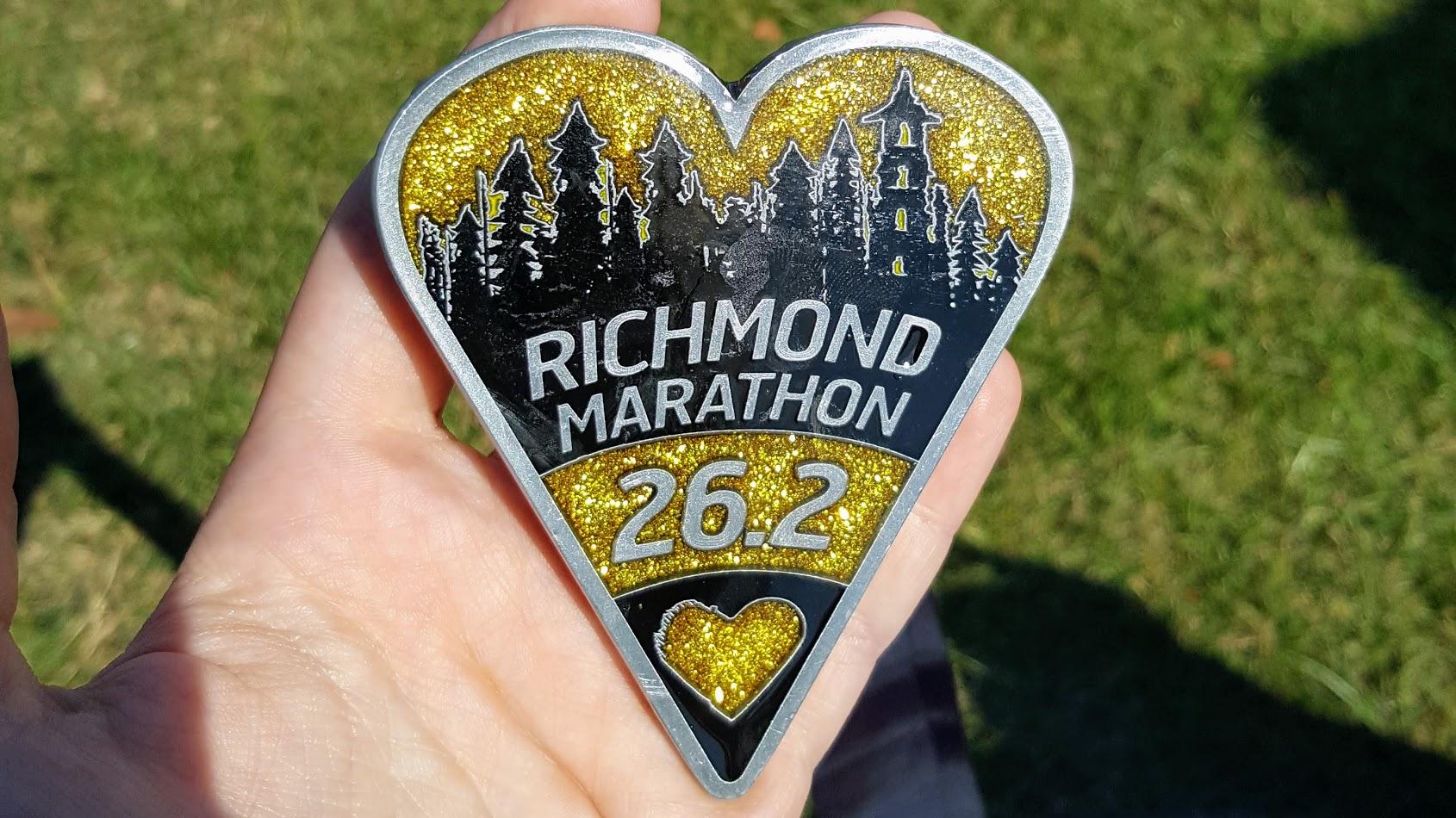 Runfest Richmond Marathon Medal